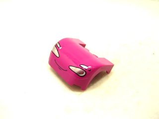 #93587 カー マッドガード 3x4x1 2/3 プリント  【マゼンタ】 /Car Mudguard 3x4x1.667 Curved with Decoration :【Magenta】
