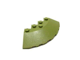 #95188 ブロック ラウンドコーナー 6x6 スロープ 33° 【オリーブグリーン】 /Brick 6x6 Corner Round  :【Olive Green】
