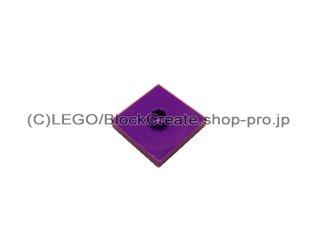 #87580 タイル 2x2 センタースタッド  【ダークパープル】 /Plate 2x2 with Groove and 1 Center Stud  :[Dark Purple]