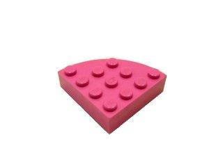 #2577 ブロック ラウンドコーナー 4x4 フルブロック 【ダークピンク】 /Brick  4x4 Corner Round :【Dark Pink】