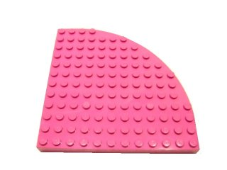 #6162 ブロック ラウンド 12x12 【ダークピンク】 /Brick 12x12 with Outside Bow :【Dark Pink】