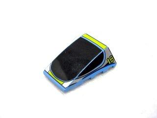#47753 ウェッジ  4x4 3面カーブ プリント  【ミディアムブルー】 /Wedge 4x4 Triple Curved without Studs :[Md,Blue]