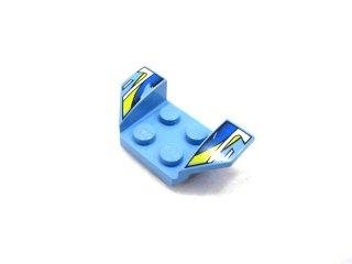 #41854 カー マッドガード 2x4 プリント  【ミディアムブルー】 /Wheel Arch 2x4 with Decoration :【Md,Blue】