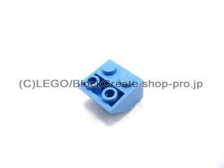 #3660 逆スロープ 45°  2x2  粗い  【ミディアムブルー】 /Slope 45°  2x2 Inverted with Rough Surface  :[Md,Blue]