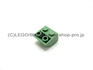 #3660 逆スロープ 45°  2x2  粗い  【サンドグリーン】 /Slope 45°  2x2 Inverted with Rough Surface  :[Sand Green]