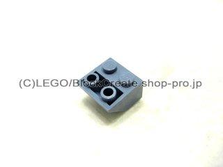 #3660 逆スロープ 45°  2x2  粗い  【青灰】 /Slope 45°  2x2 Inverted with Rough Surface  :[Sand Blue]