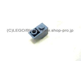 #3665 逆スロープ 45°  2x1  粗い  【青灰】 /Slope 45°  2x1 Inverted with Rough Surface  :[Sand Blue]