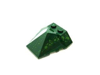 #47757 ウェッジ  4x4 4面スロープ プリント  【濃緑】 /Wedge 4x4 Quadruple Convex Slope Center  :[Dark Green]