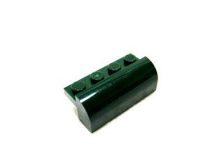 #6081 ブロック 2x4x1&1/3 カーブトップ 【濃緑】 /Brick  2x4x1.33 with Curved Top :【Dark Green】
