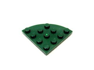 #30565 プレート ラウンドコーナー 4x4  【濃緑】 /Plate 4x4 Corner Round  :[Dark Green]