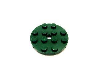 #60474 プレート 4x4 ラウンド 【濃緑】 /Plate 4x4 Round with Hole and Snapstud :[Dark Green]
