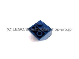 #3660 逆スロープ 45°  2x2  粗い  【紺】 /Slope 45°  2x2 Inverted with Rough Surface  :[Dark Blue]