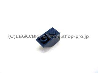 #3665 逆スロープ 45°  2x1  粗い  【紺】 /Slope 45°  2x1 Inverted with Rough Surface  :[Dark Blue]
