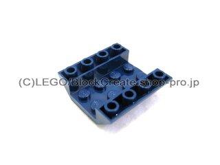 #4854  逆スロープ 45° 4x4   【紺】 /Slope 45° 4x4 Double Inverted with Open Center  :[Dark Blue]