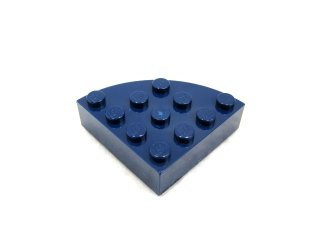 #2577 ブロック ラウンドコーナー 4x4 フルブロック 【紺】 /Brick  4x4 Corner Round :【Dark Blue】