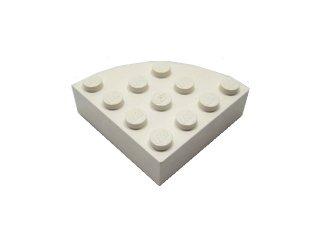 #2577 ブロック ラウンドコーナー 4x4 フルブロック 【白】 /Brick  4x4 Corner Round :【White】