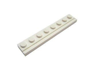 #4510 プレート 1x8  ドアレール  【白】 /Plate 1x8 with Door Rail :[White]