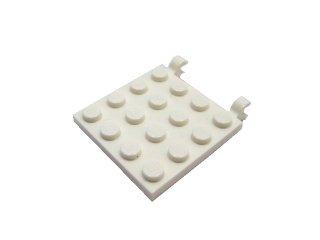 #11399 プレート 4x4 水平クリップ  【白】 /Plate 4x4 with 2 Horizontal Clips :[White]