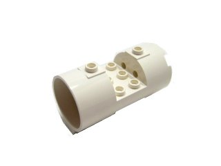 #30360 シリンダー 3x6x2 2/3  【白】 /Cylinder 3x6x2  2/3 Horizontal Hollow :【White】