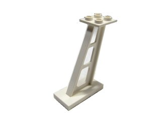 #4476 サポート 支柱 傾斜 5mm幅  【白】 /Support 2x4x5 Stanchion Inclined :[White]