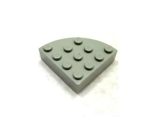 #2577 ブロック ラウンドコーナー 4x4 フルブロック 【旧灰】 /Brick  4x4 Corner Round :【Gray】