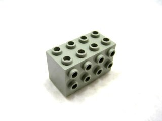 #2434 ブロック 2x4x2 3面スタッド 【旧灰】 /Brick  2x4x2 with Studs on Sides  :[Gray]