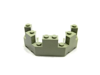 #6066 バルコニー 1/2 4x8x2 1/3  【旧灰】 /Brick 4x8x2.333 Turret Top  :[Gray]