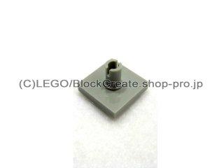 #2460 タイル 2x2 垂直ピン  【旧灰】 /Tile 2x2 with Vertical Pin  :[Gray]