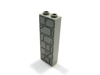 #2454 ブロック  1x2x5 (石)  【旧灰】 /Brick 1x2x5 with Decoration  :[Gray]