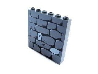 #3754 ブロック 1x6x5 プリント  【新濃灰】 /Brick 1x6x5 with Decoration :[Dark Bluish Gray]