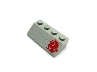 #3037 スロープ ブロック 45° 2x4 プリント 右  【旧灰】 /Slope Brick 45° 2x4 with Decoration :[Gray]