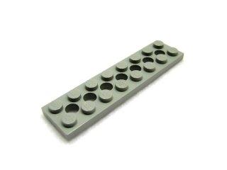 #3738 テクニック  プレート 2x8 穴あき 【旧灰】 /Technic Plate 2x8 with Holes  :[Gray]