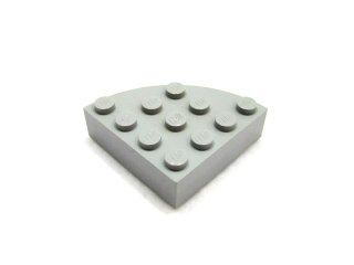 #2577 ブロック ラウンドコーナー 4x4 フルブロック 【新灰】 /Brick  4x4 Corner Round :【Light Bluish Gray】
