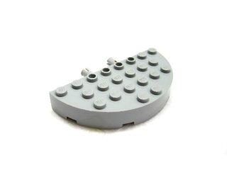#48147 ブロック ラウンドコーナー 4x8 フルブロック ダブル  【新灰】 /Brick 4x8 1/2 Circle Assembly  :[Light Bluish Gray]