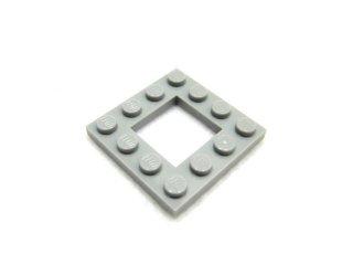 #64799 プレート 4x4 カットアウト  【新灰】 /Plate 4x4 with Open Centre 2x2 :[Light Bluish Gray]
