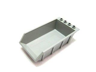 #4080 ダンプの荷台 4x6  【新灰】 /Tipper Bucket 4x6 with Hollow Studs :[Light Bluish Gray]