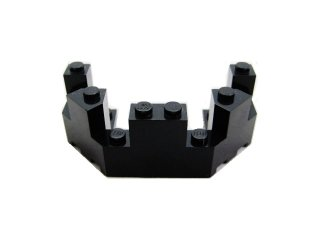 #6066 バルコニー 1/2 4x8x2 1/3  【黒】 /Brick 4x8x2.333 Turret Top  :[Black]