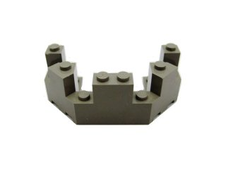 #6066 バルコニー 1/2 4x8x2 1/3  【旧濃灰】 /Brick 4x8x2.333 Turret Top  :[Dark Gray]
