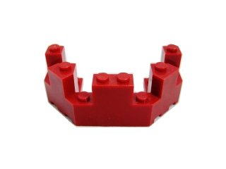 #6066 バルコニー 1/2 4x8x2 1/3  【エンジ】 /Brick 4x8x2.333 Turret Top  :[Dark Red]