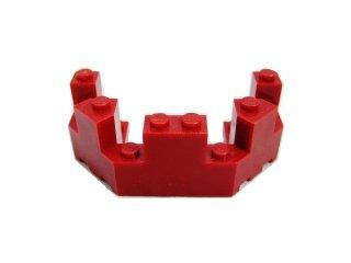 #6066 バルコニー 1/2 4x8x2 1/3  【エンジ】 /Brick 4x8x2.333 Turret Top  :[Dark Red]