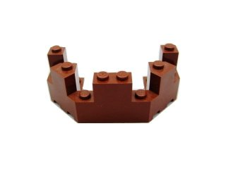 #6066 バルコニー 1/2 4x8x2 1/3  【新茶】 /Brick 4x8x2.333 Turret Top  :[Reddish Brown]