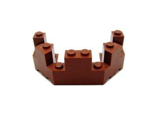 #6066 バルコニー 1/2 4x8x2 1/3  【新茶】 /Brick 4x8x2.333 Turret Top  :[Reddish Brown]