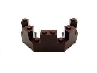 #6066 バルコニー 1/2 4x8x2 1/3  【濃茶】 /Brick 4x8x2.333 Turret Top  :[Dark Brown]