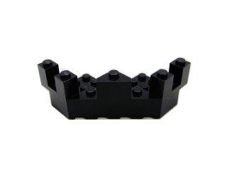 #6072 バルコニー 7x7x2.333  【黒】 /Brick 7x7x2.333 Turret Quarter  :[Black]
