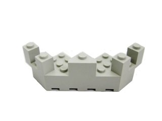 #6072 バルコニー 7x7x2.333  【旧灰】 /Brick 7x7x2.333 Turret Quarter  :[Gray]