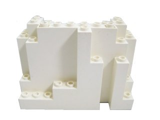 #6082 ウォール パネル 4x10x6 岩肌  【白】 /Panel 4x10x6 Rock Rectangular :[White]