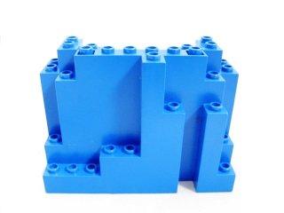 #6082 ウォール パネル 4x10x6 岩肌  【青】 /Panel 4x10x6 Rock Rectangular :[Blue]