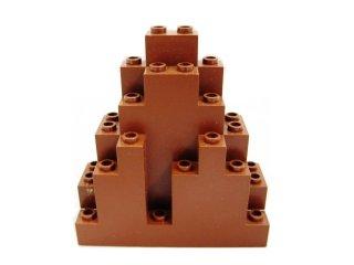 #6083 ウォール パネル 3x8x7 岩肌  【新茶】 /Panel 3x8x7 Rock Triangular :[Reddish Brown]