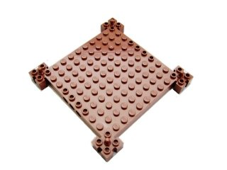 #30645 ブロック 12x12x1 スライダー  【新茶】 /Brick 12x12x1 with Sliders  :[Reddish Brown]