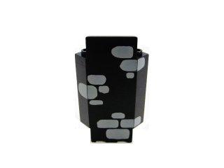 #2345 ウォールパネル 3x3x6  城壁コーナー 岩壁  【黒】 /Panel Wall 3x3x6 Corner with Bottom :[Black]